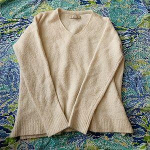 Loft Medium Off White Fuzzy Sweater